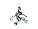 Sterling Silver Antiqued Bowling Charm style: QC7917