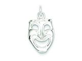 Sterling Silver Comedy Mask Charm style: QC797