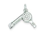 Sterling Silver Hair Dryer Charm style: QC812