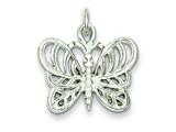 Sterling Silver Butterfly Charm style: QC884