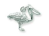 Sterling Silver Pelican Charm style: QC885