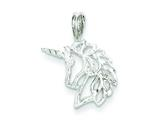 Sterling Silver Unicorn Charm style: QC921