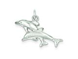 Sterling Silver Dolphins Charm style: QC935