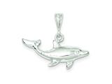 Sterling Silver Dolphin Charm style: QC943