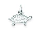 Sterling Silver Turtle Charm style: QC974