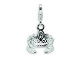 Amore LaVita™ Sterling Silver 3-D Swarovski Crystal Tiara w/Lobster Clasp Bracelet Charm style: QCC112