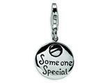 Amore LaVita™ Sterling Silver Someone Special Inscribed Round w/Lobster Clasp Charm for Charm Bracelet style: QCC116