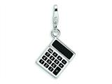 Amore LaVita™ Sterling Silver 3-D Enameled Calculator w/Lobster Clasp Charm for Charm Bracelet