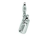 Amore LaVita™ Sterling Silver Baby Bottle w/Lobster Clasp Bracelet Charm style: QCC171