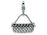 Amore LaVita™ Sterling Silver Purse w/Lobster Clasp Charm for Charm Bracelet