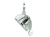Amore LaVita™ Sterling Silver 3-D Enameled Opening Hand Bag w/Lobster Clasp Charm (Moveab) for Charm Bracelet style: QCC223