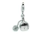 Amore LaVita™ Sterling Silver Perfume w/Lobster Clasp Bracelet Charm style: QCC247