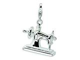 Amore LaVita™ Sterling Silver 3-D Enameled Sewing Machine w/Lobster Clasp Bracelet Charm style: QCC295