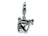 Amore LaVita Sterling Silver Horsehead w/Lobster Clasp Charm for Charm Bracelet
