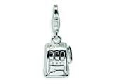 Amore LaVita Sterling Silver Polished Slot Machine w/Lobster Clasp Charm for Charm Bracelet