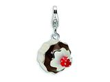 Amore LaVita Sterling Silver 3-D Enameled Dessert w/Lobster Clasp Charm for Charm Bracelet