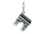 Amore LaVita™ Sterling Silver 3-D Enameled Arc De Triomphe w/Lobster Clasp Bracelet Charm style: QCC447