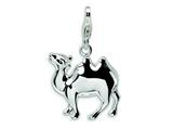 Amore LaVita™ Sterling Silver 3-D Enameled Camel w/Lobster Clasp Bracelet Charm style: QCC452
