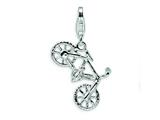 Amore LaVita™ Sterling Silver Polished Bicycle w/Lobster Clasp Charm for Charm Bracelet style: QCC486