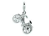 Amore LaVita™ Sterling Silver 3-D Enameled Bicycle w/Lobster Clasp Charm (Moveable) for Charm Bracelet style: QCC487