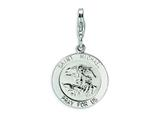 Amore LaVita™ Sterling Silver Saint Michael Medal w/Lobster Clasp Bracelet Charm style: QCC501
