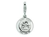 Amore LaVita™ Sterling Silver Saint Joseph Medal w/Lobster Clasp Bracelet Charm style: QCC506