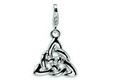 Amore LaVita Sterling Silver Trinity Knot w/Lobster Clasp Charm for Charm Bracelet