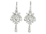 Cheryl M Sterling Silver CZ Chandelier French Wire Earrings