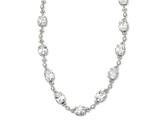 Cheryl M Sterling Silver CZ 17in Necklace