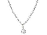 Cheryl M Sterling Silver Pear CZ 17in Necklace
