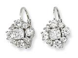Cheryl M™ Sterling Silver CZ Leverback Earrings
