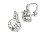 Cheryl M™ Sterling Silver CZ French Wire Earrings