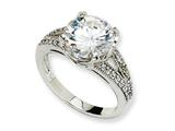 Cheryl M™ Sterling Silver Fancy CZ Ring style: QCM134