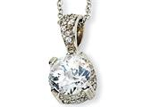 Cheryl M™ Sterling Silver CZ 18in Necklace style: QCM136