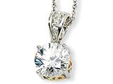 Cheryl M™ Sterling Silver and Gold Plated 8mm X and O CZ 18in Necklace