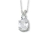 Cheryl M™ Sterling Silver CZ 18in Necklace style: QCM150