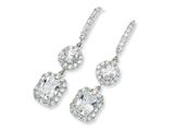 Cheryl M™ Sterling Silver CZ French Wire Earrings style: QCM159