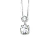 Cheryl M™ Sterling Silver CZ 18in Necklace style: QCM161