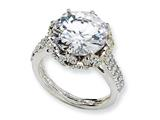 Cheryl M™ Sterling Silver Fancy CZ Ring style: QCM175