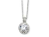 Cheryl M™ Sterling Silver 100-facet CZ 18in Necklace style: QCM183