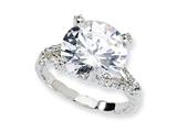 Cheryl M™ Sterling Silver Fancy CZ Ring