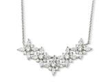 Cheryl M™ Sterling Silver CZ Floral 18in Necklace style: QCM198