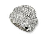 Cheryl M™ Sterling Silver CZ Buckle Ring style: QCM201