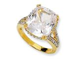 Cheryl M Gold Plated Sterling Silver CZ Ring