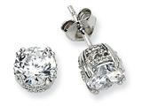 Cheryl M™ Sterling Silver 6.5mm CZ Stud Earrings style: QCM237