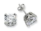 Cheryl M™ Sterling Silver 8mm CZ Stud Earrings style: QCM244