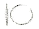 Cheryl M™ Sterling Silver In/Out Marquise CZ Post Hoop Earrings style: QCM259