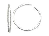 Cheryl M™ Sterling Silver In/Out CZ Post Hoop Earrings