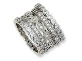 Cheryl M Gold Plated Sterling Silver CZ Eternity Five Ring Set