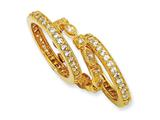 Cheryl M Gold Plated Sterling Silver CZ Eternity Three Ring Set